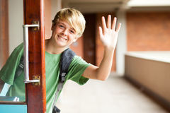 Cute school boy Stock Photo