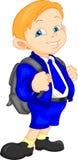Cute school boy with bag Stock Photo