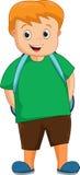 Cute School boy cartoon vector illustration