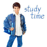 Cute school boy Stock Images