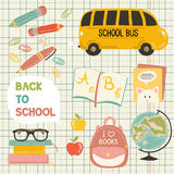 Cute school cartoon colection Stock Images