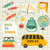 Cute school cartoon colection Stock Photos
