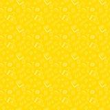Cute school cartoon seamless pattern Stock Photo