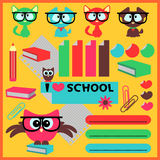 Cute school elements Stock Photography