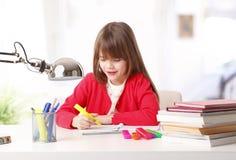 Cute school girl Stock Photos
