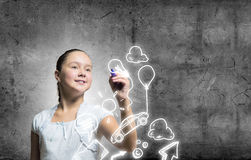 Cute school girl Royalty Free Stock Photo