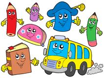 Cute school illustrations collection - Royalty Free Stock Image