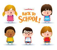 Cute school kids Royalty Free Stock Images