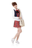 Cute school student girl Stock Images