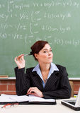 Cute school teacher Stock Images