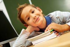 Cute schoolboy Stock Image