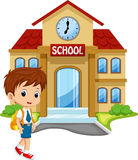 Cute schoolboy cartoon Royalty Free Stock Photos