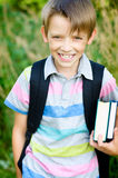 Cute schoolboy Royalty Free Stock Photo