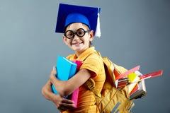 Cute schoolboy Stock Photos