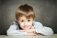 Cute schoolboy Stock Photo