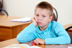 Bored lad Royalty Free Stock Photo