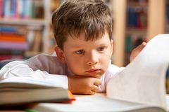 Cute schoolchild Royalty Free Stock Images