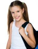 Cute Schoolchild With Knapsack Royalty Free Stock Image