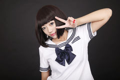 Cute schoolgirl. Royalty Free Stock Photography