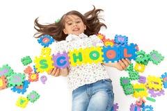 Cute Schoolgirl Stock Image