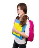 Cute schoolgirl portrait Stock Images