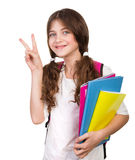 Cute schoolgirl portrait Royalty Free Stock Image