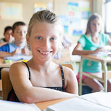 Cute Schoolgirl Stock Photos