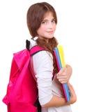 Cute schoolgirl with textbooks Stock Image