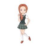 Cute schoolgirls. Stock Images
