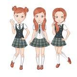 Cute schoolgirls. Royalty Free Stock Photography