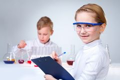 Cute scientist Stock Photo