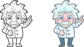 Cute scientist, funny illustration Royalty Free Stock Image