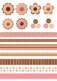 Cute Scrapbook Element Royalty Free Stock Photos