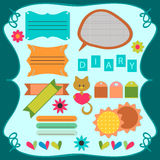 Cute scrapbook elements Stock Images