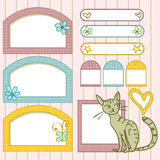 Cute scrapbook elements Stock Photos