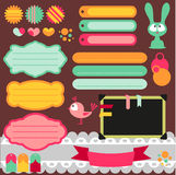 Cute scrapbook elements set Royalty Free Stock Photo