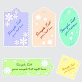 Cute scrapbook tags. Set of 5 cute scrapbook tags Royalty Free Stock Photography