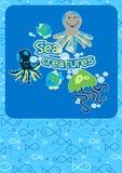 Cute sea creatures. Royalty Free Stock Photos