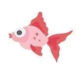 Cute sea fish. Vector illustration, isolated on white. Stock Photos