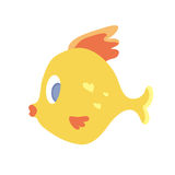 Cute sea fish. Vector illustration,  on white. Cute sea fish. Vector illustration,  on white background Stock Images