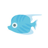 Cute sea fish. Vector illustration,  on white. Stock Images
