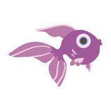 Cute sea fish. Vector illustration,  on white. Cute sea fish. Vector illustration,  on white background Stock Photo
