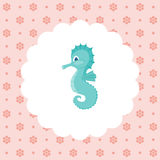Cute sea horse. Royalty Free Stock Images