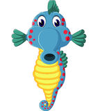 Cute sea horse cartoon Stock Images