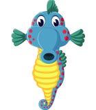 Cute sea horse cartoon Stock Images
