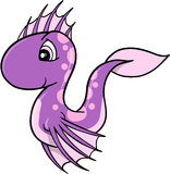 Cute Sea Horse Vector Stock Photography