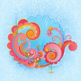Cute sea swirls. Stock Photo