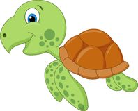 Cute sea turtle cartoon Royalty Free Stock Photo