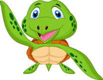 Cute sea turtle cartoon Stock Images