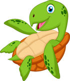 Cute sea turtle cartoon Stock Photos